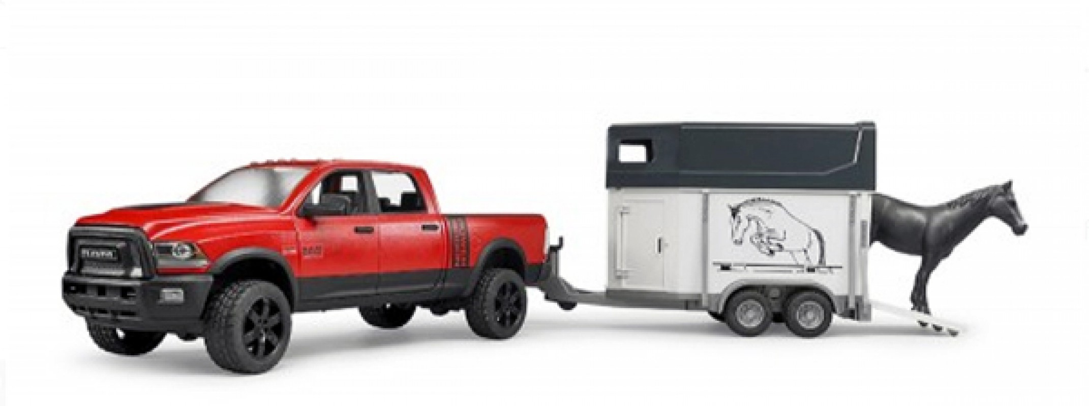 bruder profi serie dodge power wagon met paard en. Black Bedroom Furniture Sets. Home Design Ideas