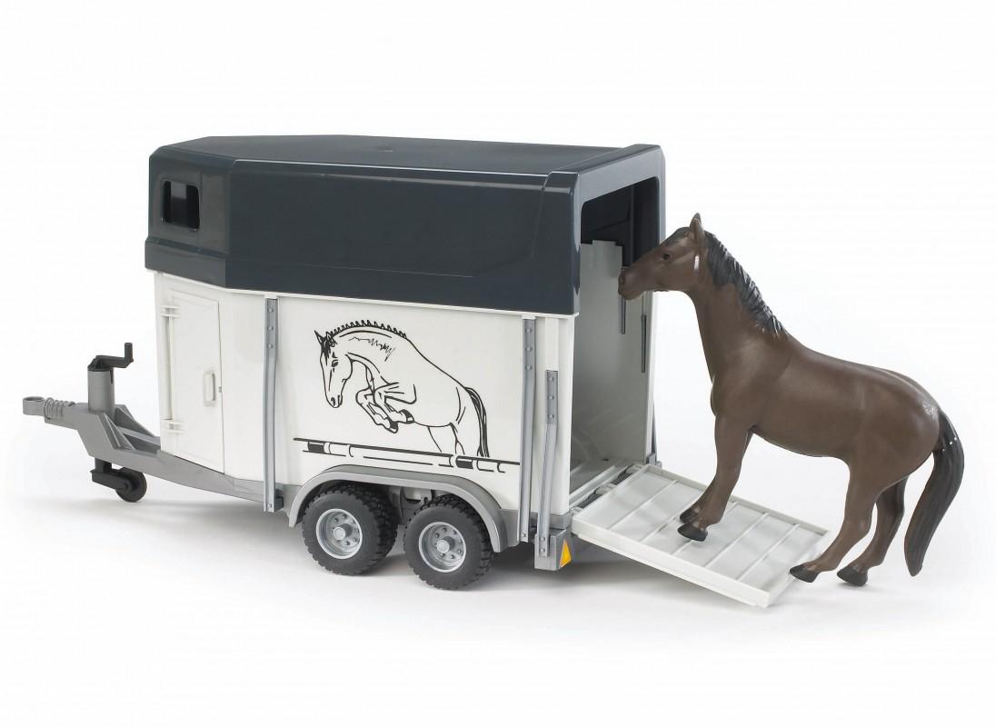 Paardentrailer Met Paard 02028 Bruder Profi Serie De