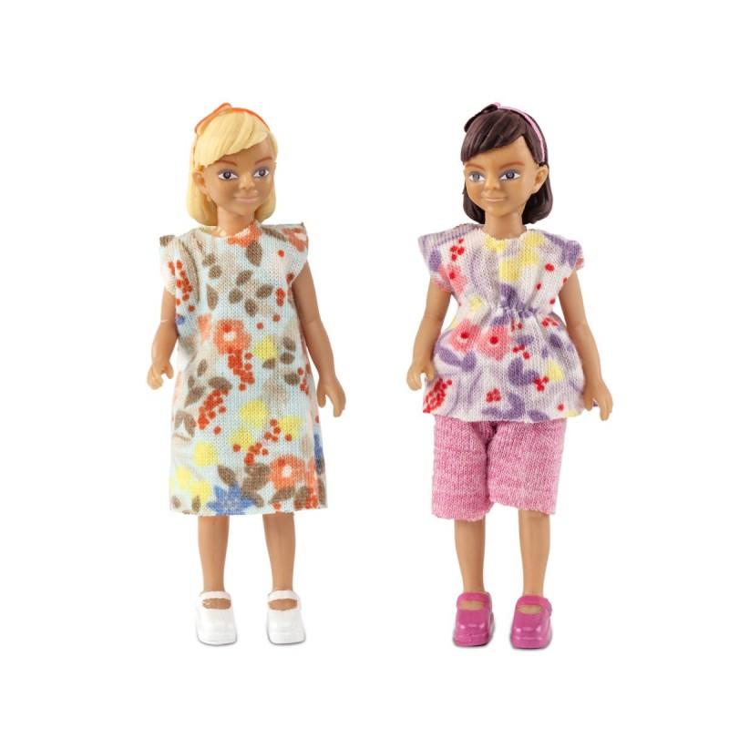 Lundby living poppenset van twee meisjes 608064 bentoys for Poppenhuis meisje