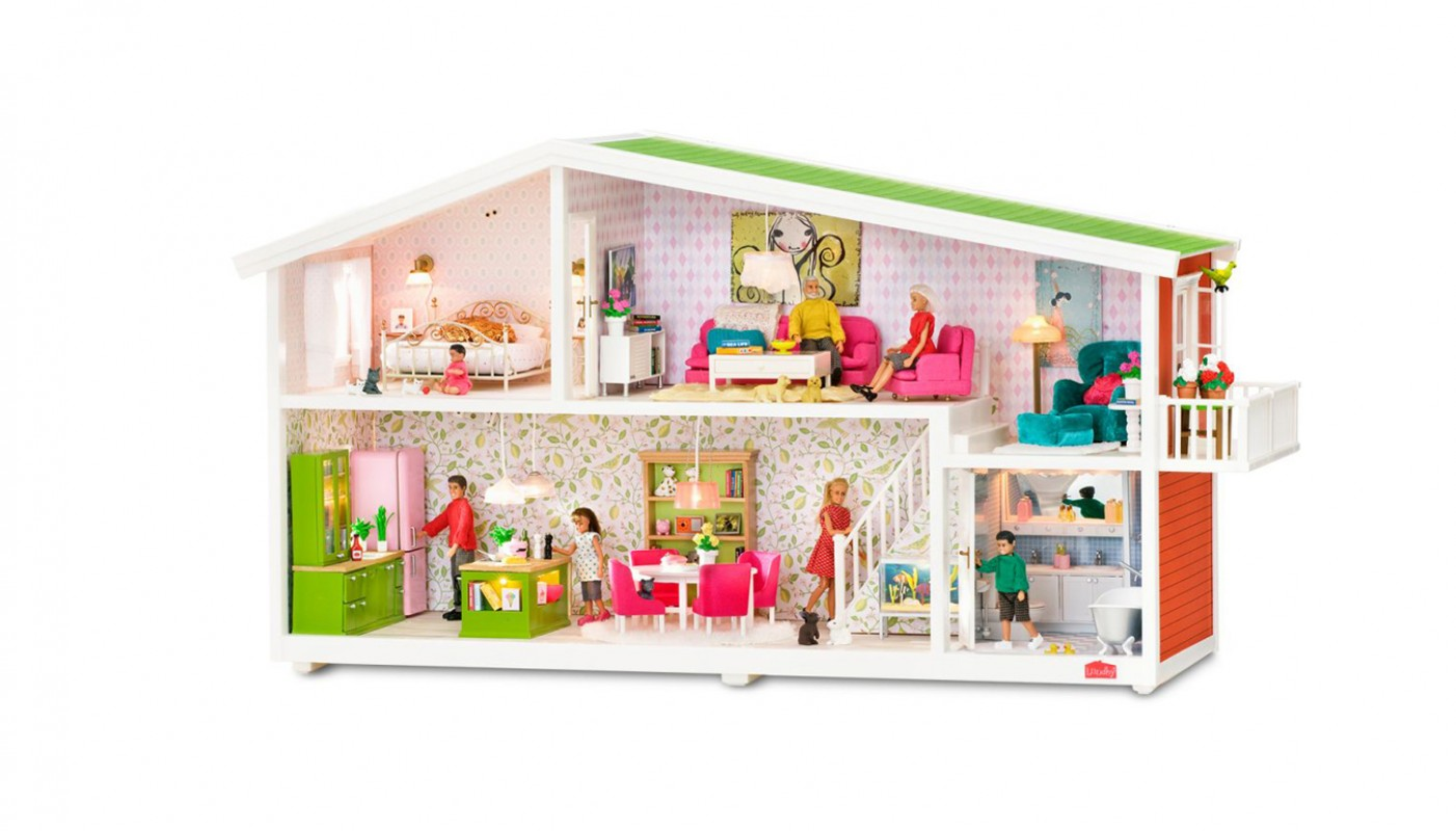 Lundby smaland poppenhuis 601014 lundby living for Poppenhuis voor peuters