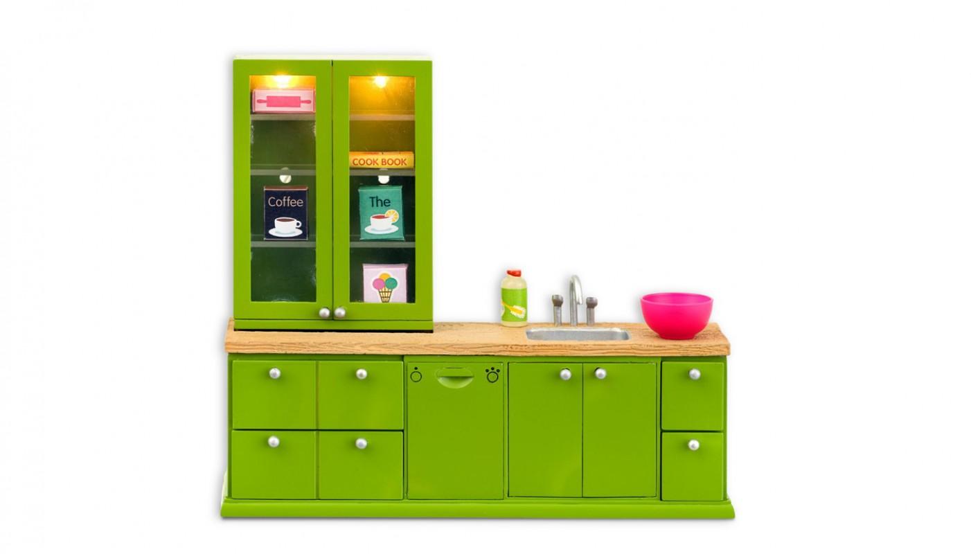 Keuken met wasbak en vaatwasser (602077), lundby Living  Poppen en poppenhui # Wasbak Schaal_000641