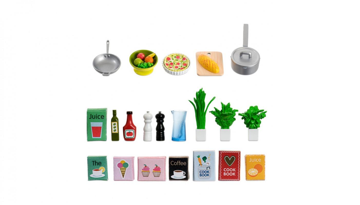 Set met keukenaccessoires 605089 lundby living for Living accessoires