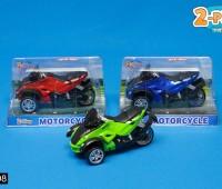 Blauwe motorfiets 1