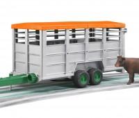 Veetransport aanhanger met koe 1