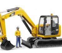CAT minigraafmachine met bouwvakker 1