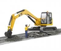 CAT minigraafmachine met bouwvakker 2