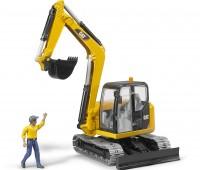 CAT minigraafmachine met bouwvakker 3