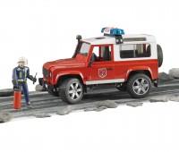 Land Rover Brandweerauto met brandweerman 1