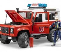 Land Rover Brandweerauto met brandweerman 2
