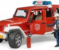 Jeep brandweerauto met brandweerman 2