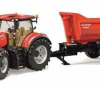 Case IH Optum tractor met Krampe kipper 1