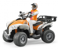 Oranje quad met bestuurder 1