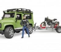 Land Rover met aanhanger en Ducati motor 2