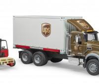 MACK Granite UPS Truck met vorkheftruck 2