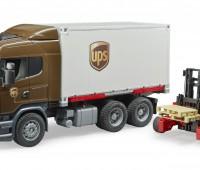 Scania R-serie UPS vrachtwagen met heftruck 1