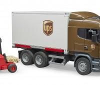 Scania R-serie UPS vrachtwagen met heftruck 2