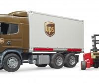 Scania R-serie UPS vrachtwagen met heftruck 3