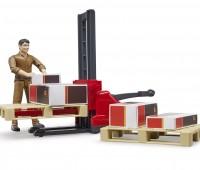 Speelfiguur UPS bezorger met palletwagen 3