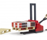 Speelfiguur UPS bezorger met palletwagen 2