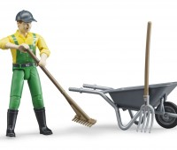 Speelfiguur Farmer met kruiwagen 3