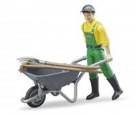 Speelfiguur Farmer met kruiwagen 1