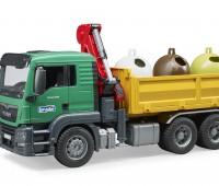 MAN TGS kraanwagen met glascontainers  1