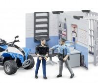 Politiebureau met quad en speelfiguren 1