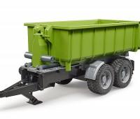 Haakarm aanhanger met container voor tractoren 1