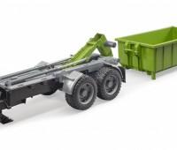 Haakarm aanhanger met container voor tractoren 2