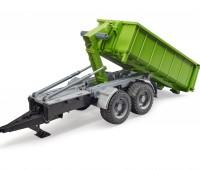 Haakarm aanhanger met container voor tractoren 3
