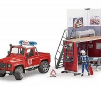 Brandweerauto en brandweerkazerne 1