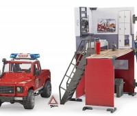 Brandweerauto en brandweerkazerne 2
