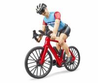 Mountainbike met wielrenner 1