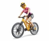 Mountainbike met wielrenster 1