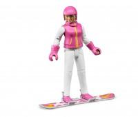 Vrouw op snowboard 1