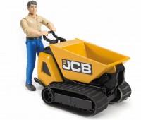 JCB minidumper met bouwvakker 1