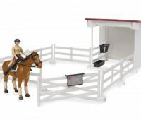 Paard met weide en compacte stal 1