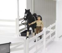 Paard met weide en compacte stal 2