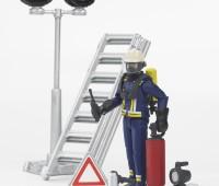 Brandweerman met accessoires 1