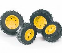 Vier gele tractorbanden 3000 serie 1