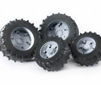 Vier grijze tractorbanden 3000 serie 1
