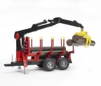 Oplegger voor houttransport met kraan  3
