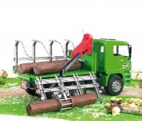 MAN vrachtwagen voor houttransport 1