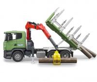 Scania vrachtwagen voor houttransport 1