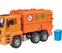 MAN TGA vuilniswagen oranje  1