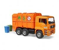 MAN TGA vuilniswagen oranje  2