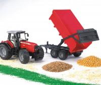 Massey Ferguson tractor met kipper 1