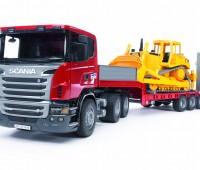 Scania dieplader en CAT bulldozer 1