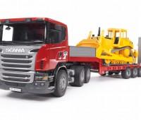Scania dieplader en CAT bulldozer 3