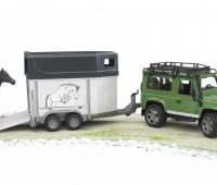 Land Rover Defender met paardentrailer 1